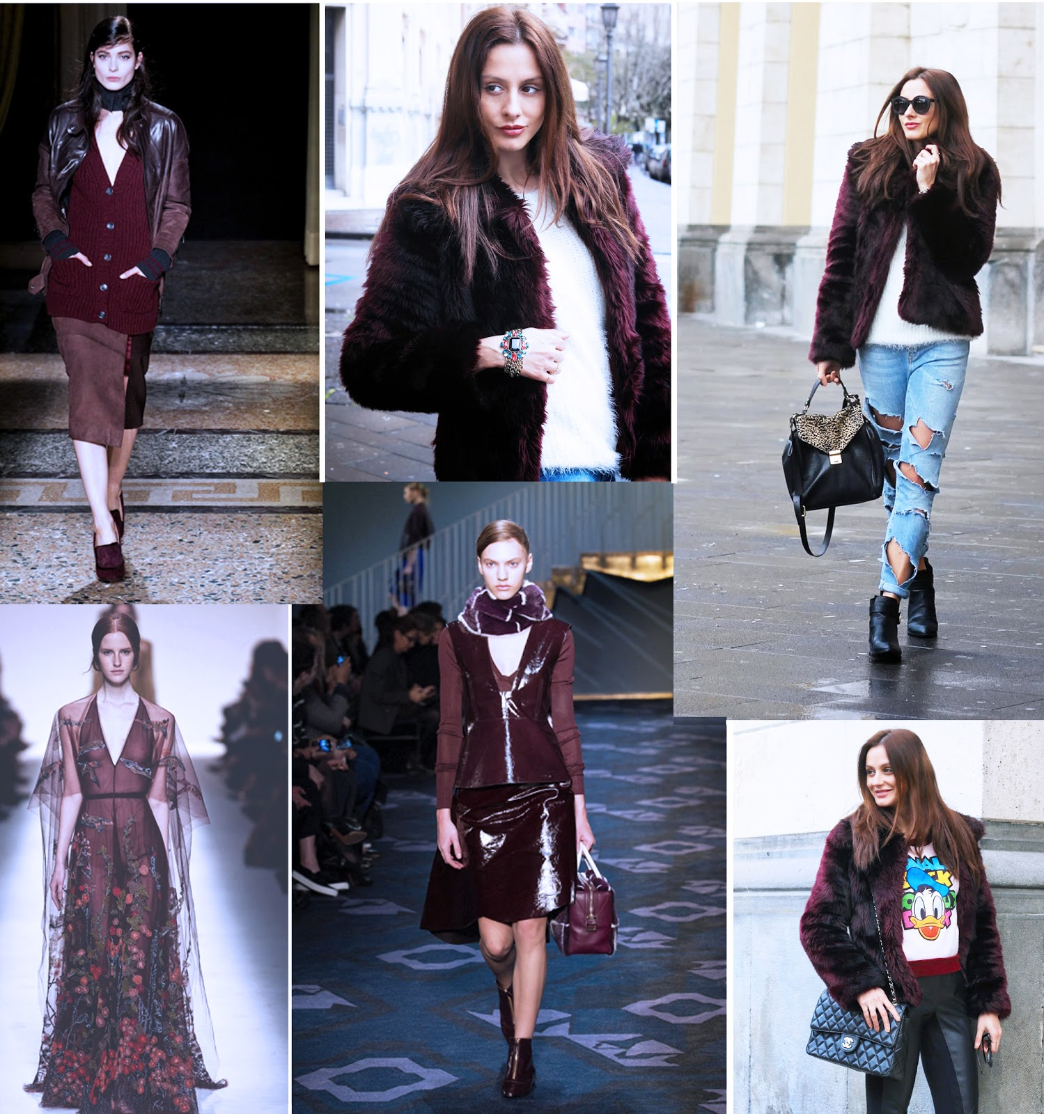 Shades of burgundy!